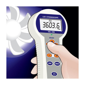 ESL-200A LED Stroboscope application