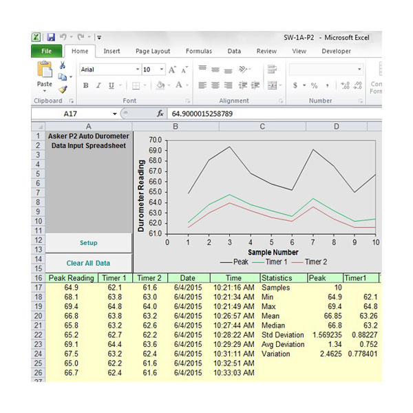 Durometer Data Acquisition Software